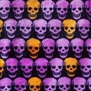Betsey Johnson Skulls Halloween Throw Blanket